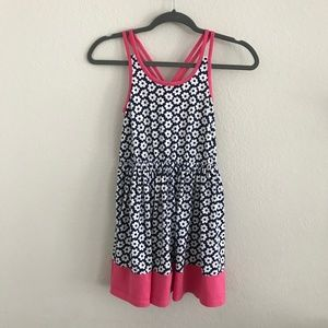 Gymboree floral 100% cotton pink strapped dress